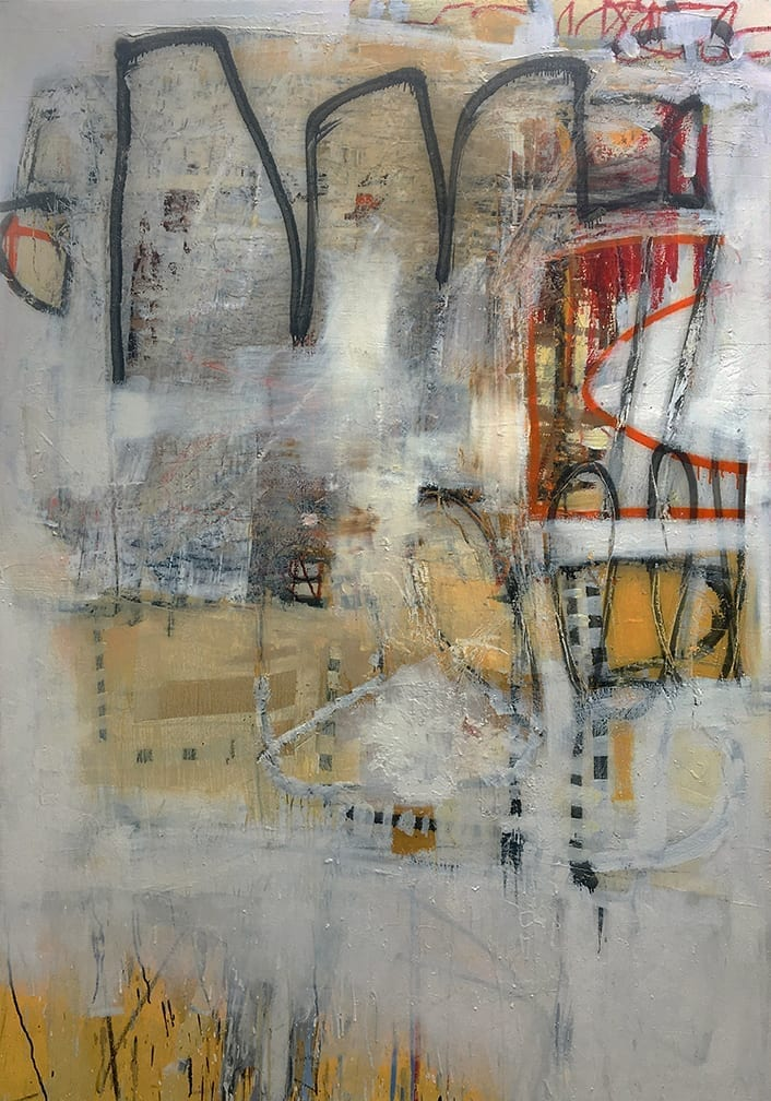 """blackline"", 2016</br> 84 x 60"", oil on canvas"