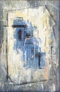 Abstraction Blue oil on board