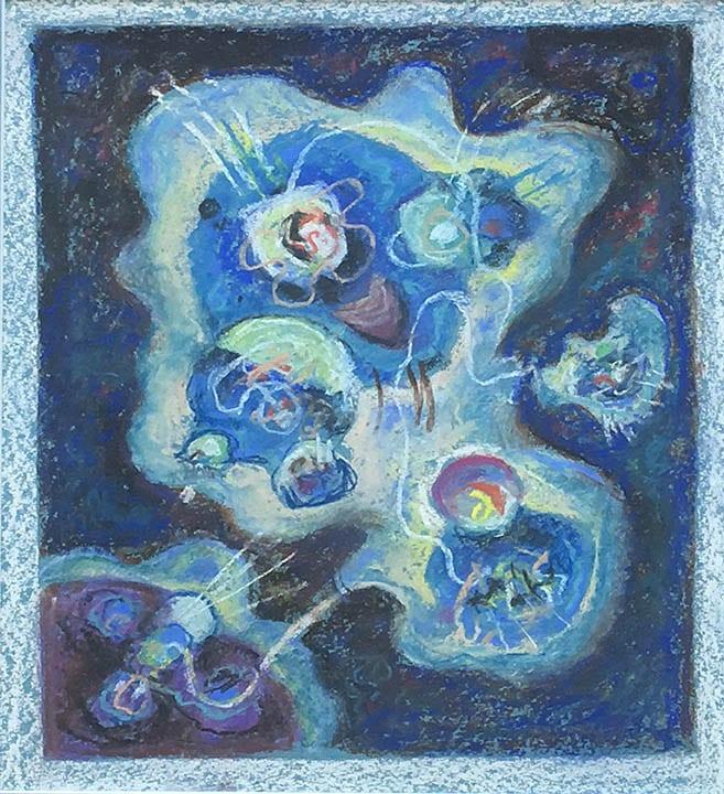 """Moonlight Sonata"", c. 1940's<br/>12 x 14"", pastel on paper<br>SOLD"