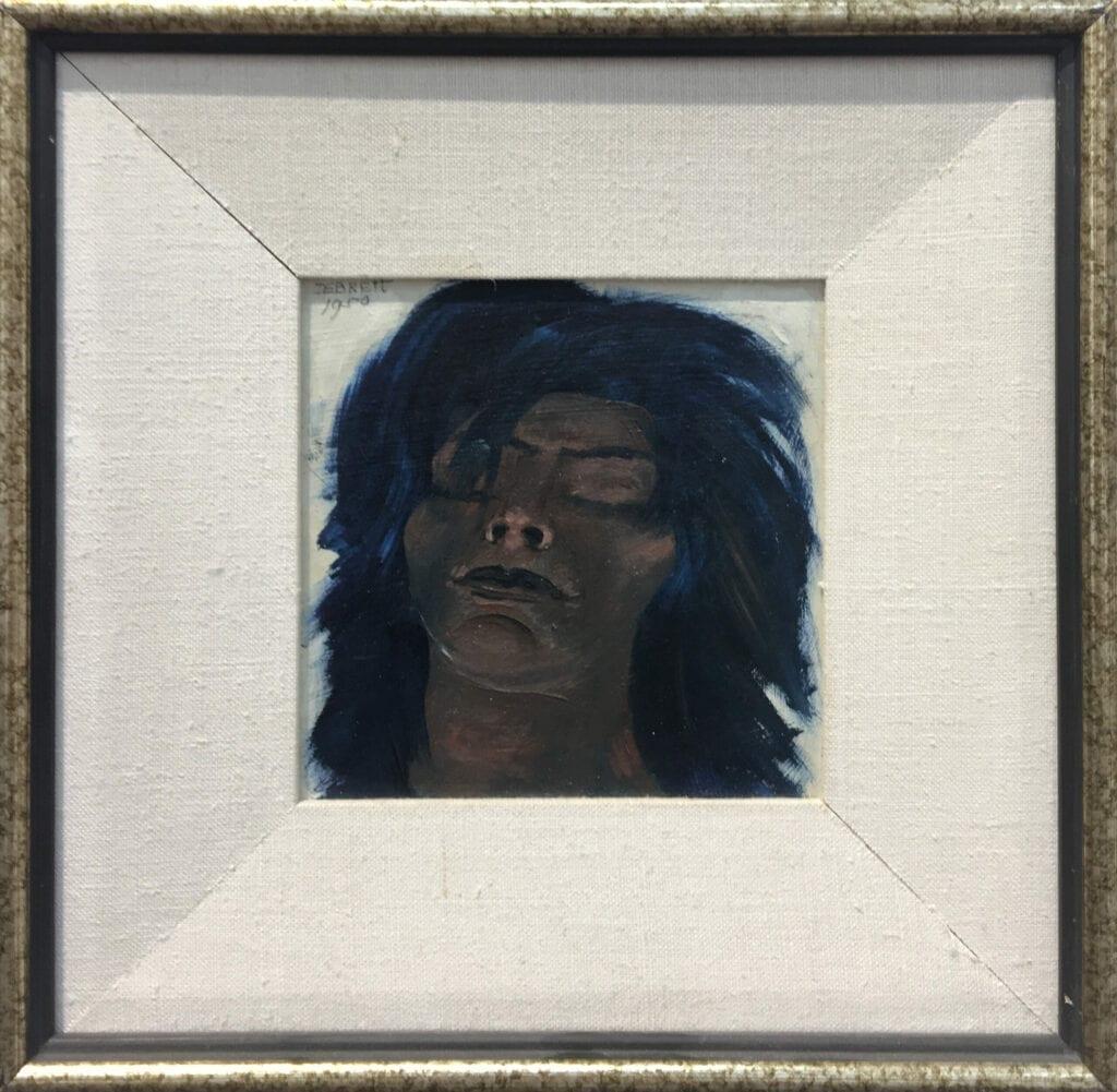 Oil portrait of Taos Pueblo woman