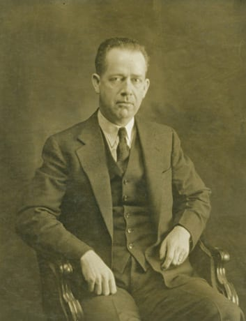 photograph of Charles Burchfield in sepia tone