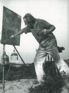 Hans Hofmann Painting in the Dunes, 1942